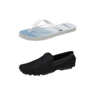 Kit Chinelo DMT + Mocassin Casual Drive Masculino