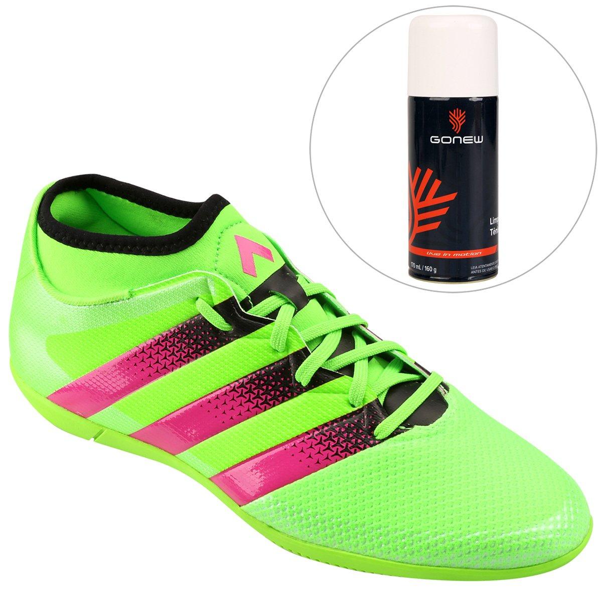 d5a4c5b07e Kit Chuteira Adidas Ace 16.3 Primemesh IN Futsal + Limpa Tênis - Gonew -  Compre Agora