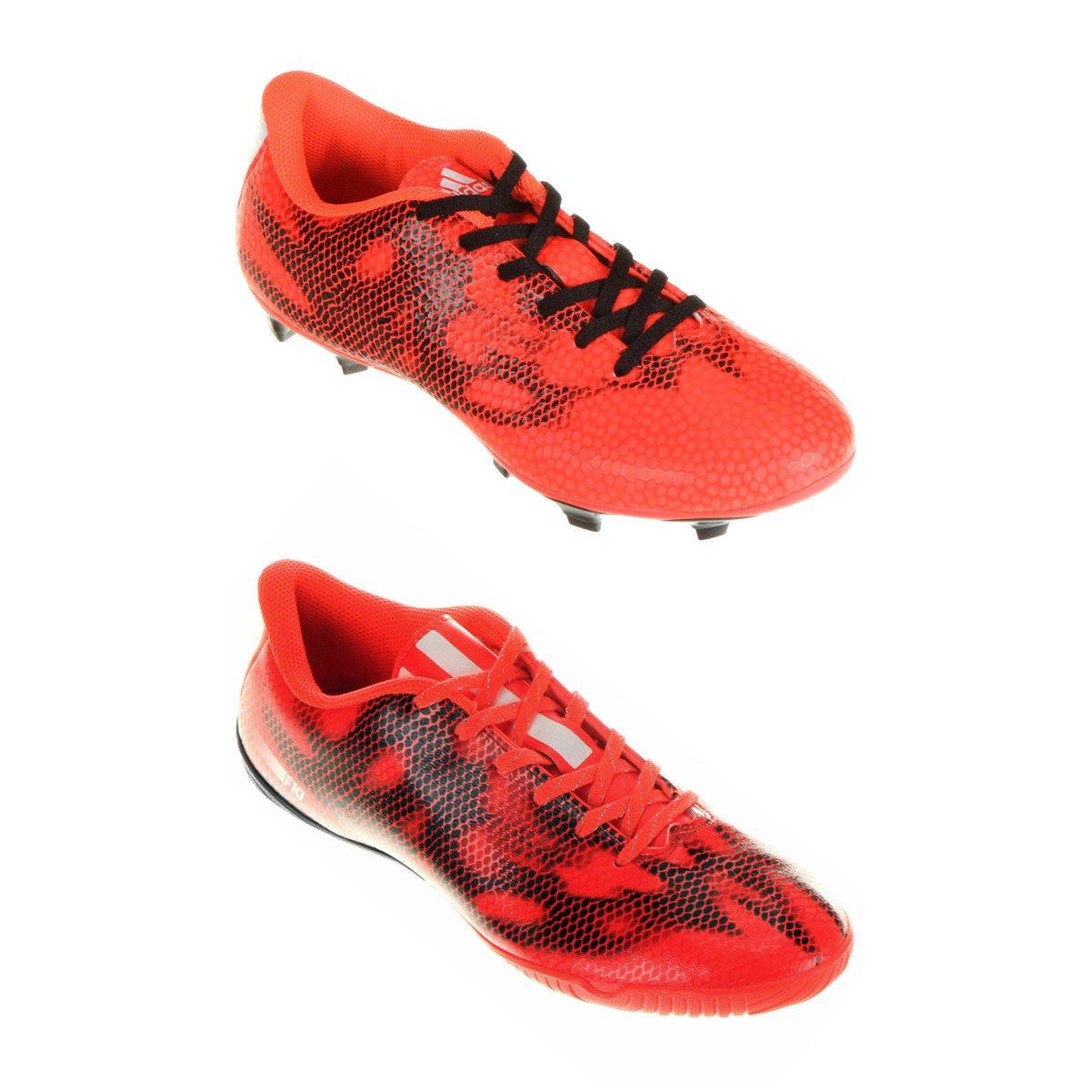 af153623fb Kit Chuteira Adidas F10 IN Futsal + Chuteira Adidas F5 FG Campo - Compre  Agora