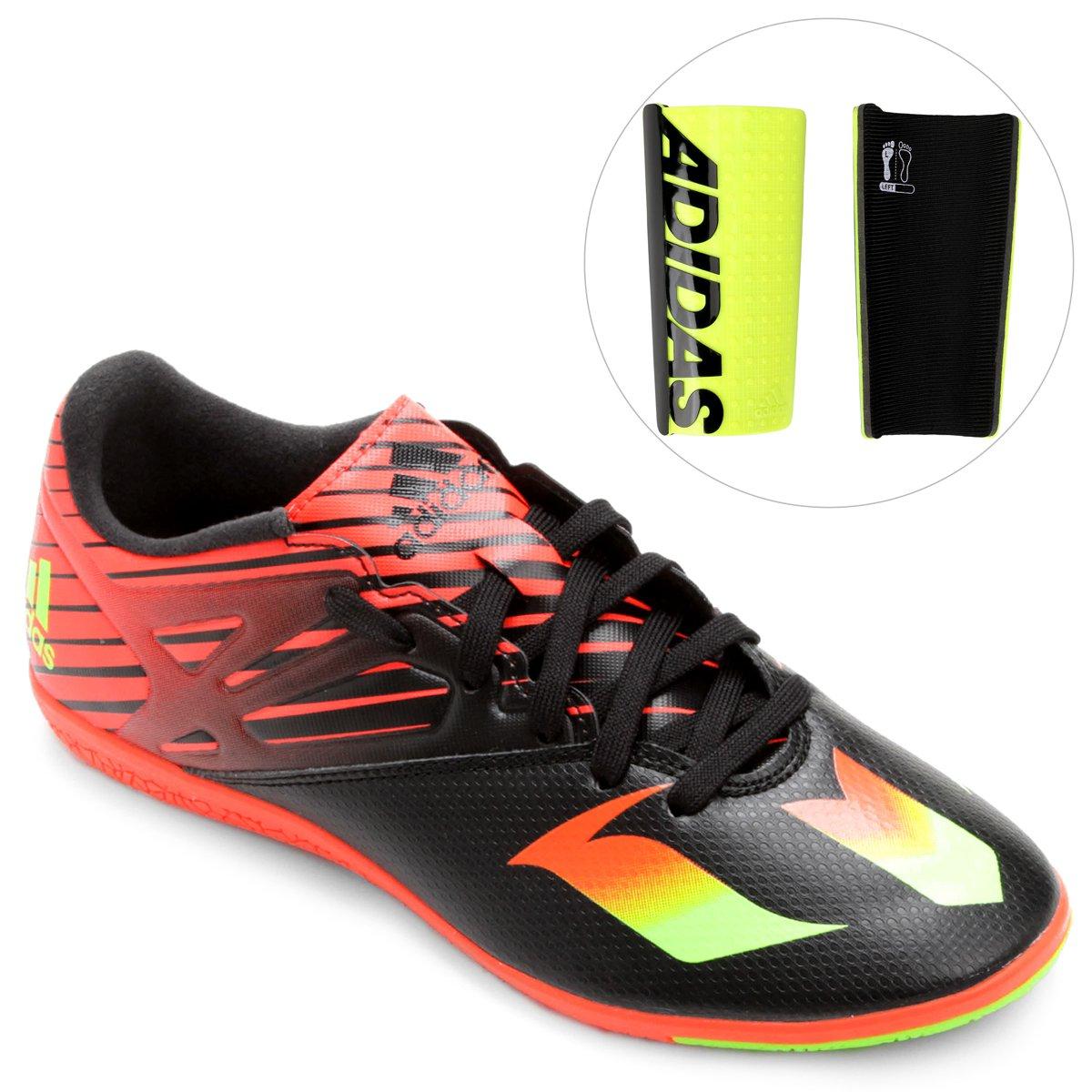 7232d6d75f Kit Chuteira Adidas Messi 15.3 IN Futsal + Caneleira Adidas Ace Lesto -  Compre Agora