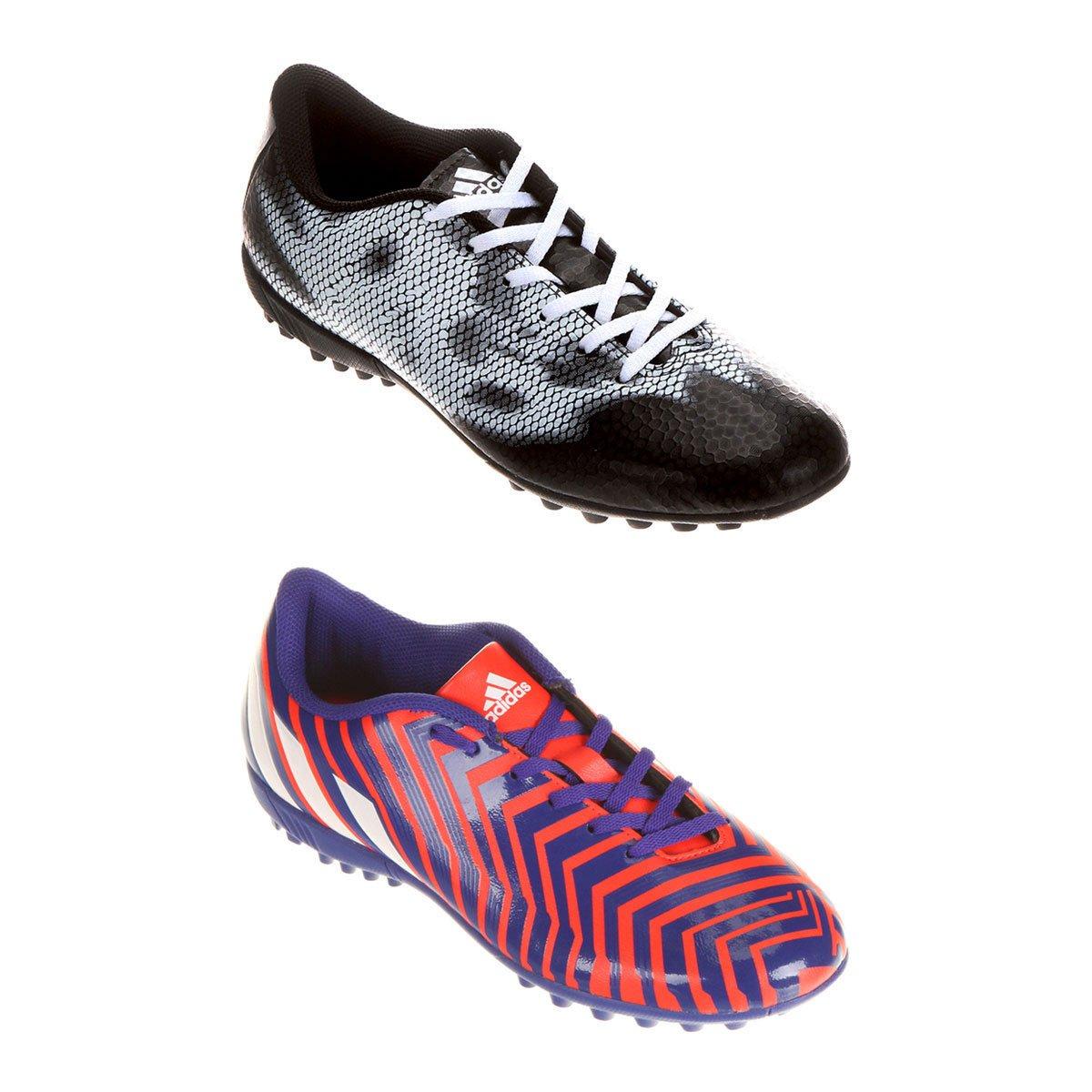 1442e7ec45 Kit Chuteira Adidas Predito Instinct TF Society + Chuteira Adidas F5 TF  Society - Compre Agora