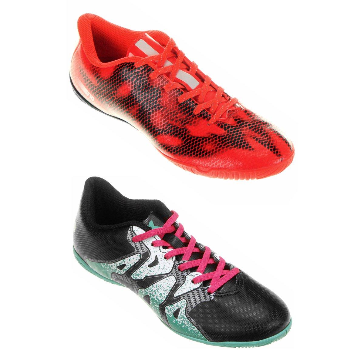 Kit Chuteira Adidas X 15 4 IN Futsal + Chuteira Adidas F10 IN Futsal -  Compre Agora  8587a6c332969
