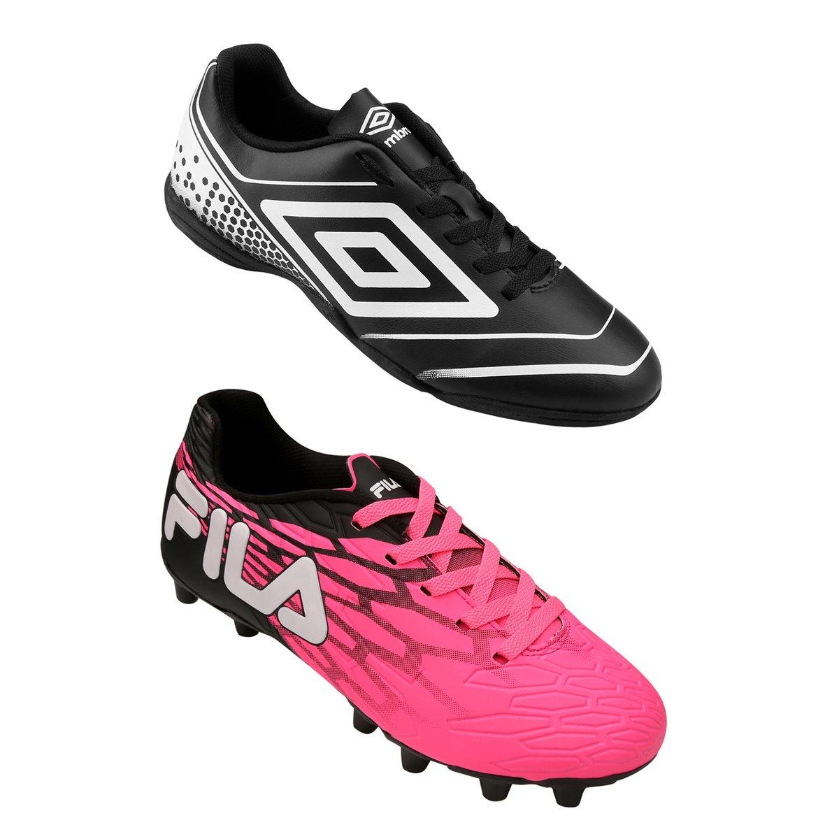 78cbb5c2c4ba3 Kit Chuteira Fila Snap Campo + Chuteira Umbro Gear Futsal - Compre Agora