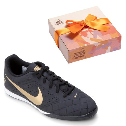 Kit Chuteira Futsal Nike Beco 2 + Caixa de Bombom c/ 9 unidades