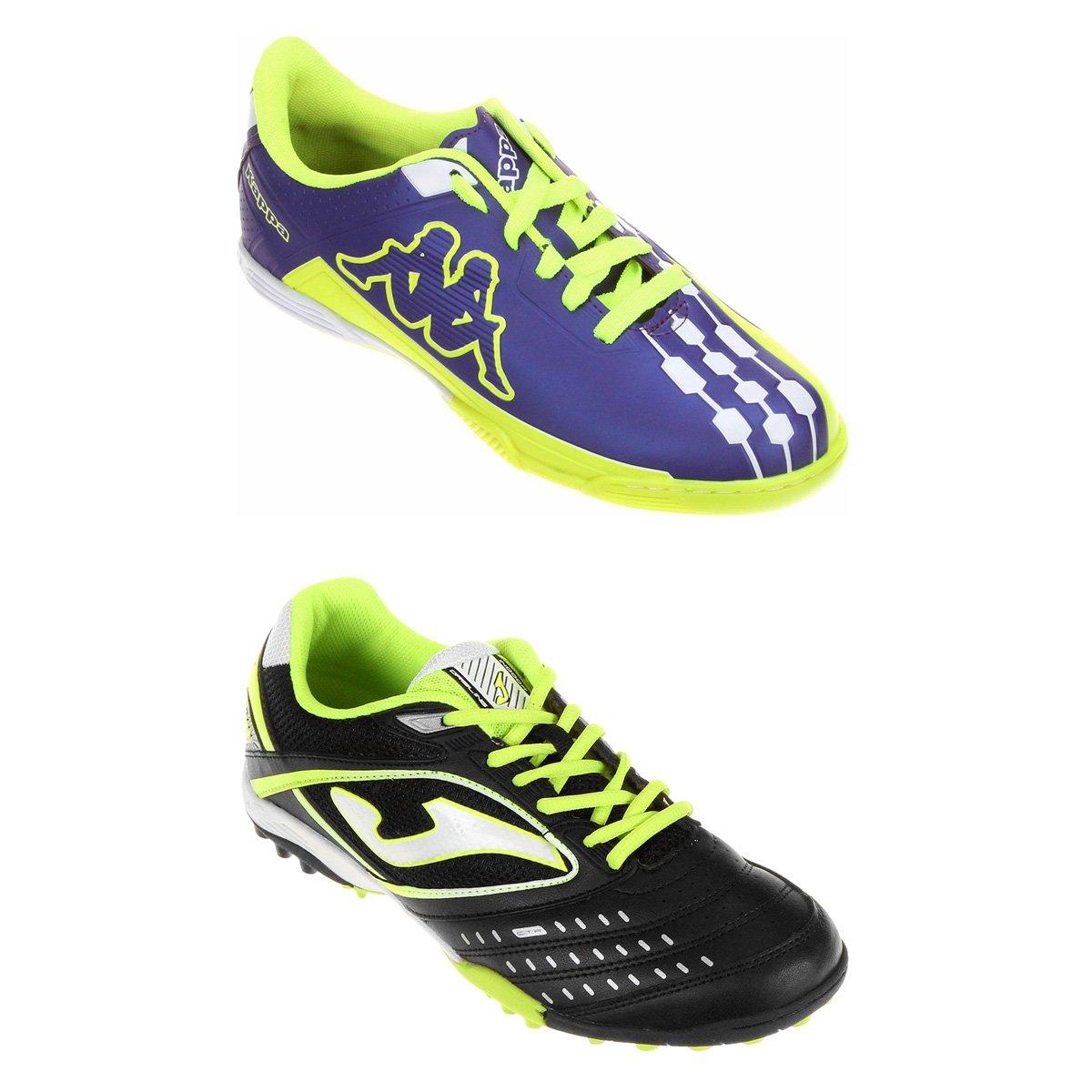 b3f2315d23 Kit Chuteira Joma Dribling Society + Chuteira Kappa Brava Futsal - Compre  Agora