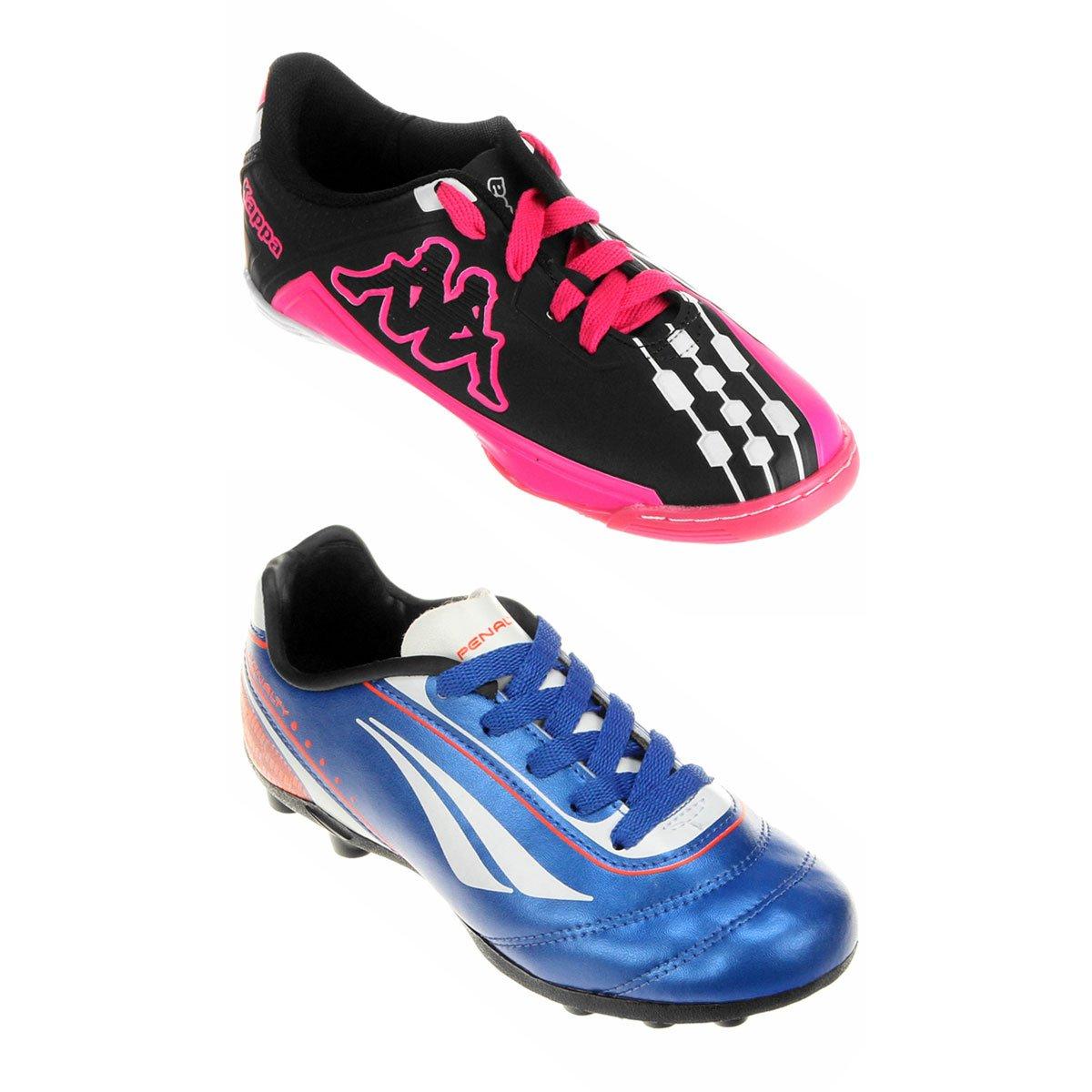e4a94244b9 Kit Chuteira Kappa Brava Futsal Infantil + Chuteira Penalty K Soccer Matís  5 Campo Infantil - Compre Agora