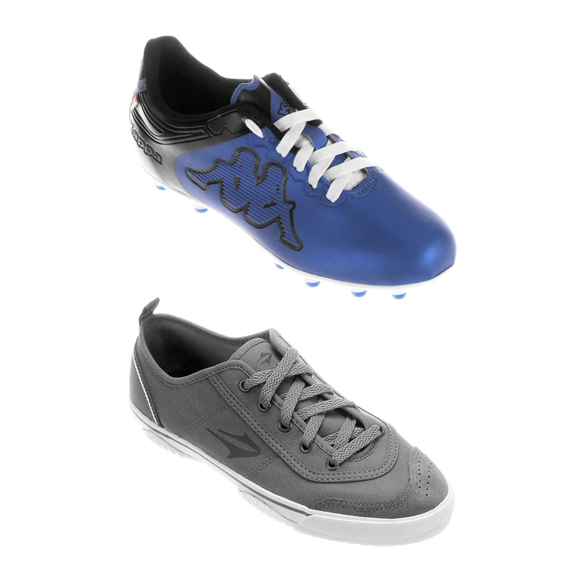 d3b642a7ae6 Kit Chuteira Kappa Fuerza Campo + Chuteira Topper New Casual 3 Futsal -  Compre Agora