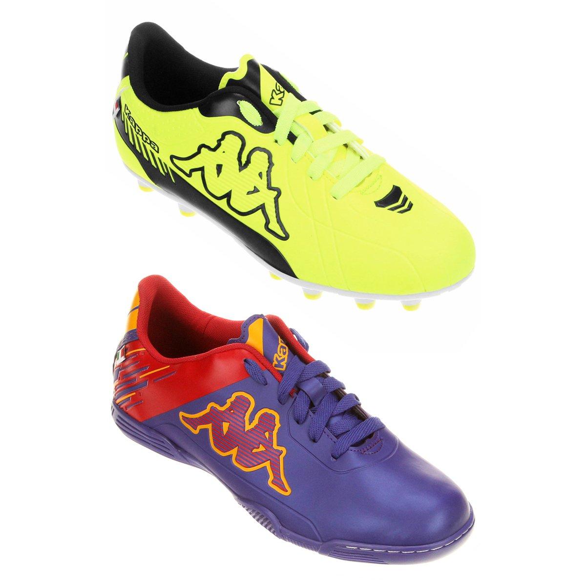 1b15507797 Kit Chuteira Kappa Viento Futsal + Chuteira Kappa Torino Campo - Compre  Agora