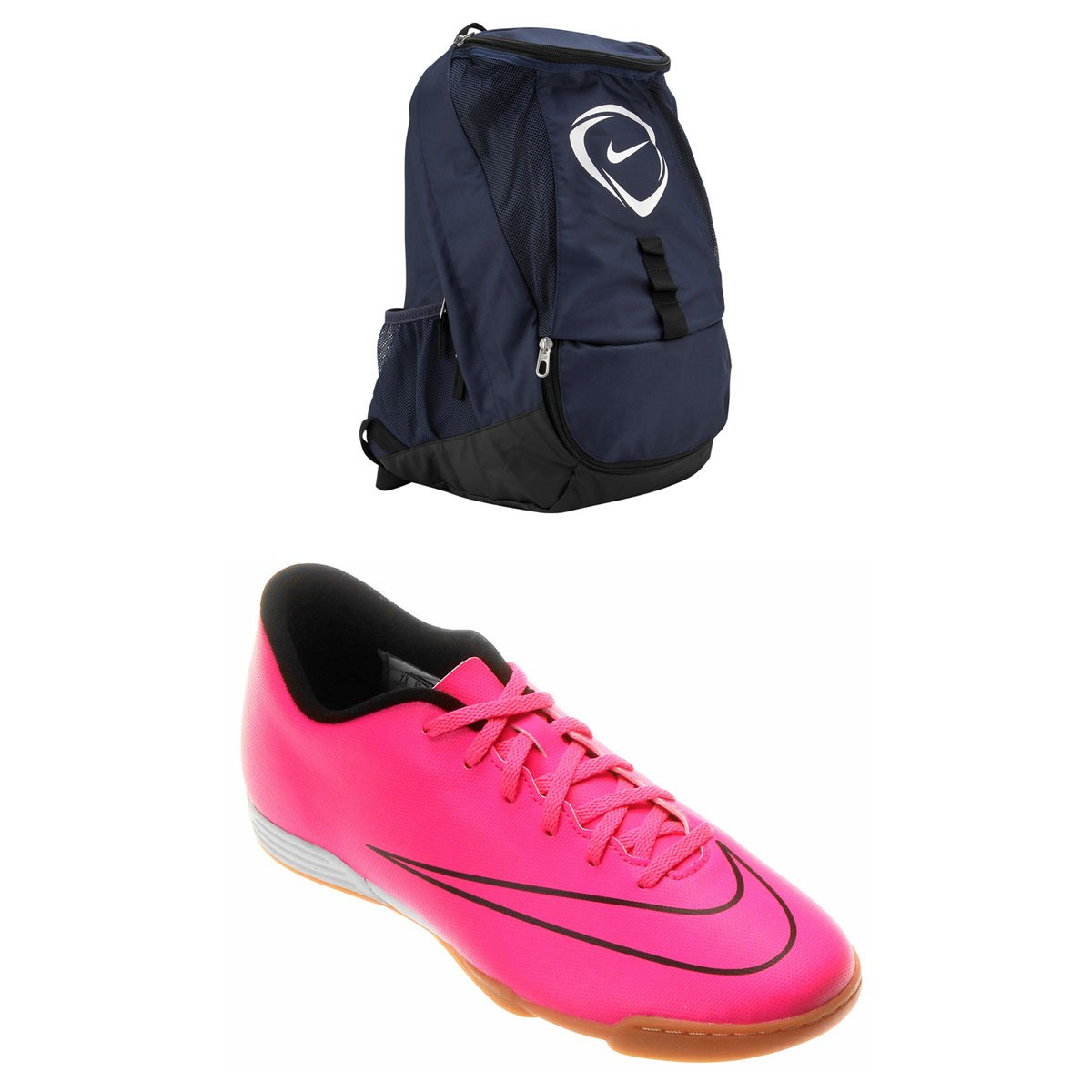 34f3c474c Kit Chuteira Nike Mercurial Vortex 2 IC Futsal + Mochila Nike Football Club  Team | Netshoes