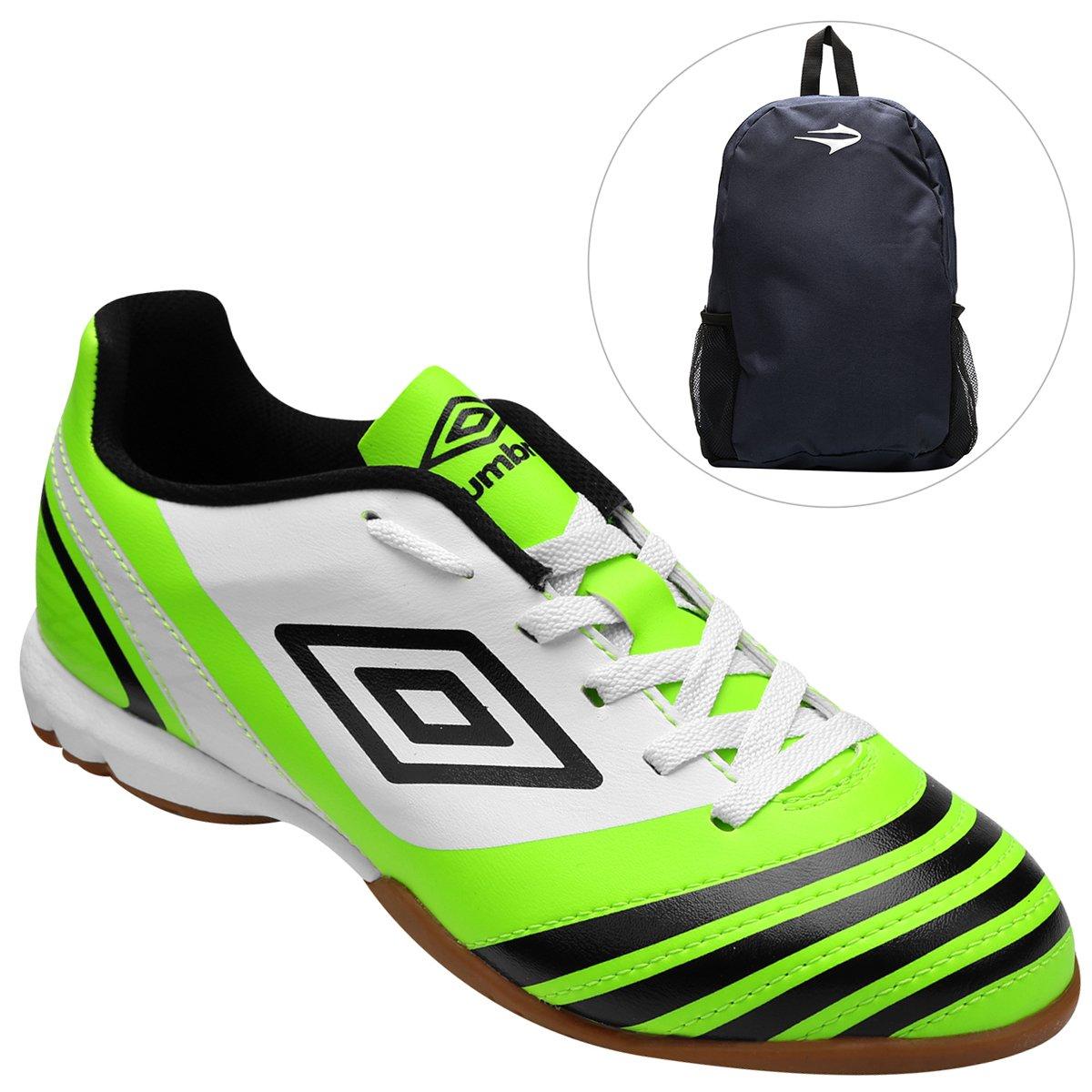 25a29e4cd3 Kit Chuteira Umbro Hunter Futsal + Mochila Topper Extreme - Compre Agora