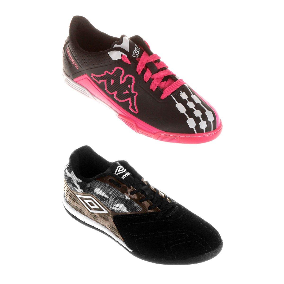 90a608c35c Kit Chuteira Umbro Trick Futsal + Chuteira Kappa Brava Futsal - Compre Agora