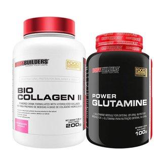 Kit - Colágeno BIO COLLAGEN II 200g + POWER Glutamina 100g - Bodybuilders