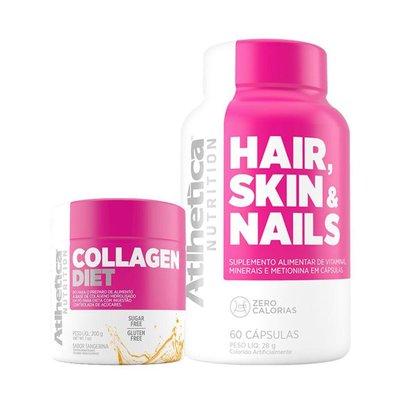 Kit Colágeno Ella Diet 200g + Hair Skin Nails 60 Cáps - Atlhetica Nutrition