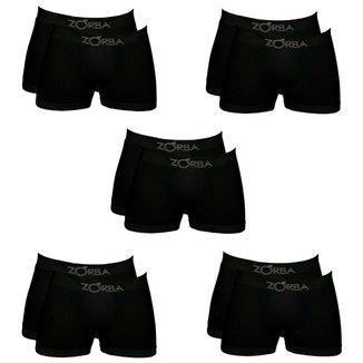 Kit Com 10 Cuecas Zorba Boxer  Masculino