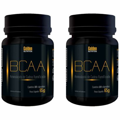 Kit Com 2 Bcaa - 100 Cápsulas - Golden Nutrition