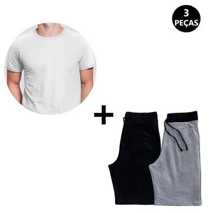 Kit com 2 Bermudas + 1 Camiseta Dooker  Masculino