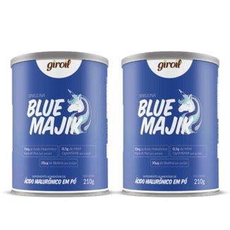 Kit com 2 Blue Majik com Ácido Hialurônico e MSM 210g Giroil
