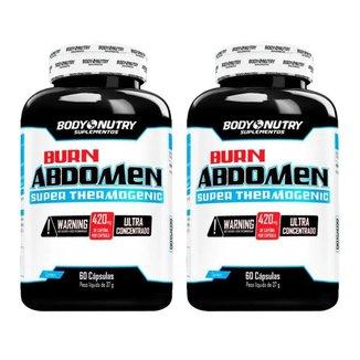 Kit com 2 Burn Abdomen 60 Cápsulas Body Nutry