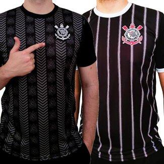 Kit Com 2 Camisas Do Corinthians Oficial Licenciado