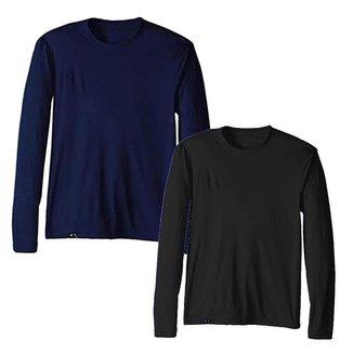 Kit com 2 Camisetas Proteção Solar Uv 50 Ice Tecido Gelado – Slim Fitness