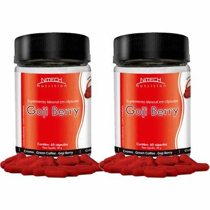 Kit Com 2 Goji Berry Com Café Verde E Picolinato De Cromo – 60 Cápsulas – Nitech Nutrition
