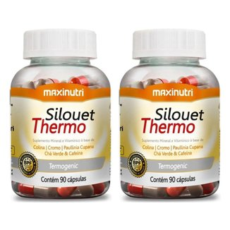 Kit com 2 Silouet Thermo 90 Cápsulas Maxinutri