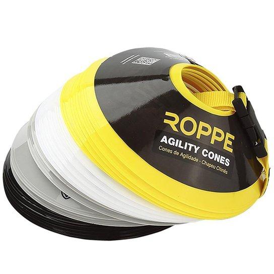 Kit Com 20 Mini Cones Chapéus Chinês Roppe Rp000018 Em 4 Cores - Amarelo