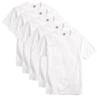 Kit com 5 Camisetas Básicas Algodão Premium Masculina