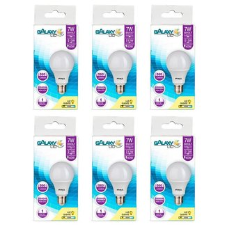 Kit com 6 Lâmpadas LED Galaxy Bulbo 7W 6500K E-27 Bivolt Bulbo A55