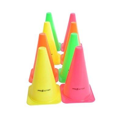 Kit com 8 Cones de Plástico para Treino de Agilidade 23,5cm - ProAction - Unissex