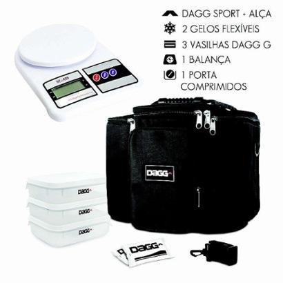 Kit com Bolsa Térmica Fitness Dagg 6L e Balança Digital de cozinha até 5kg