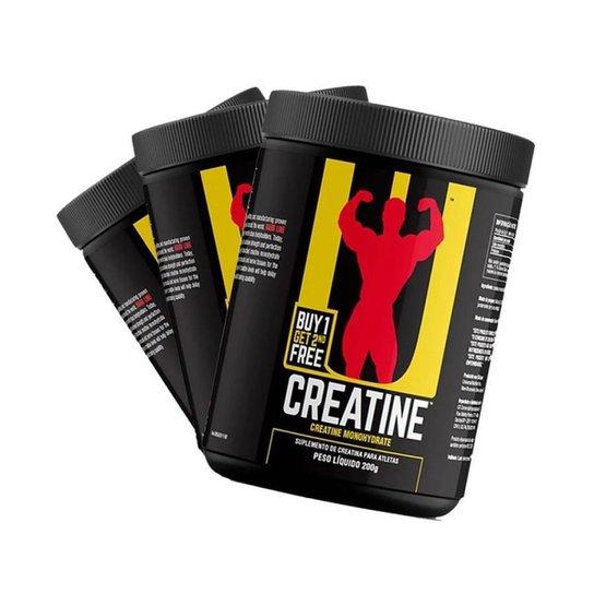 Kit Combo 3x Creatina - 200g - Sem Sabor - Universal Nutrition -