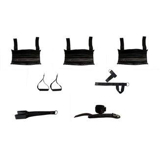 Kit Completo Musculação Academia Puxador Cross Over, Tríceps, Lateral, Protetor De Barra Novo