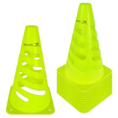 Kit Cone de Marcação Flexível Elite Muvin 24cm 12 Unids. - Unissex