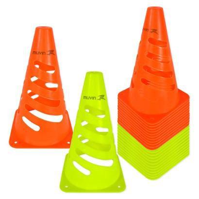 Kit Cone de Marcação Flexível Elite Muvin 24cm - 24 Unids. - Unissex