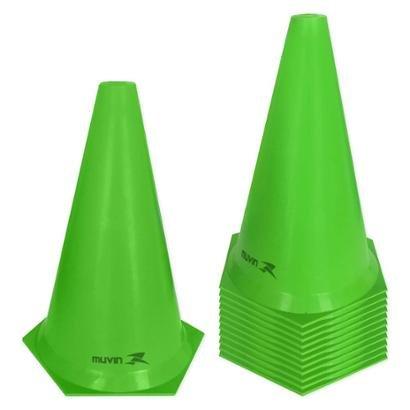 Kit Cone de Marcação Plástico Flexível Muvin 24cm - 12 Unids. - Unissex