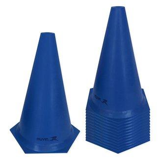 Kit Cone de Marcação Plástico Muvin 24cm - 12 Unids.