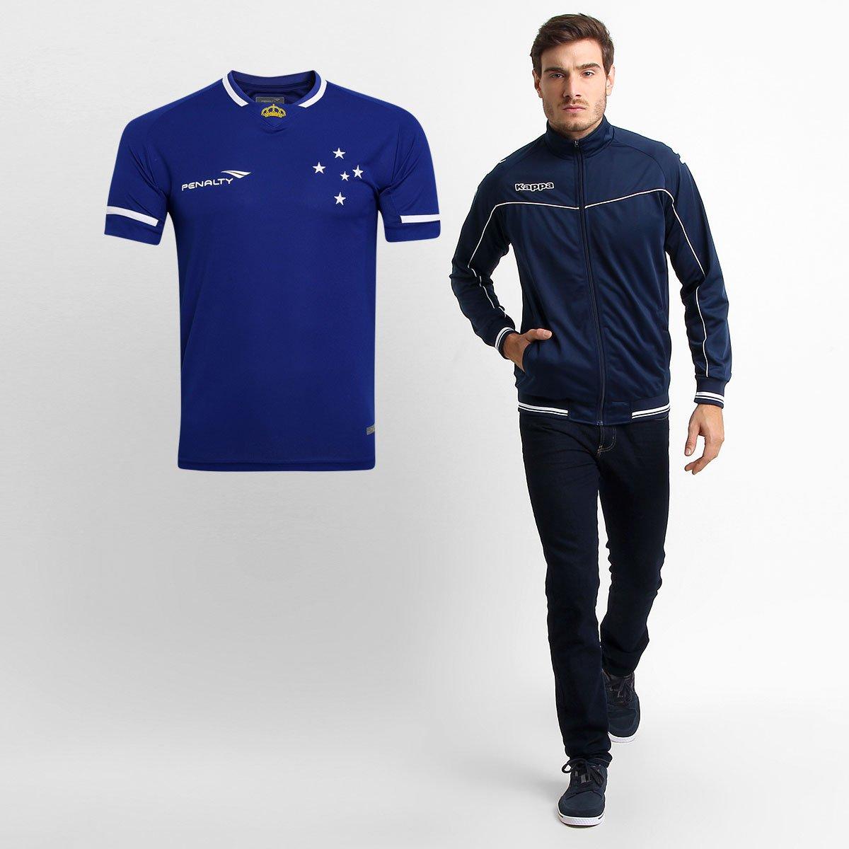 ed81fc7fd1 Kit Cruzeiro - Camisa Penalty Cruzeiro I 2015 + Jaqueta Kappa - Compre Agora