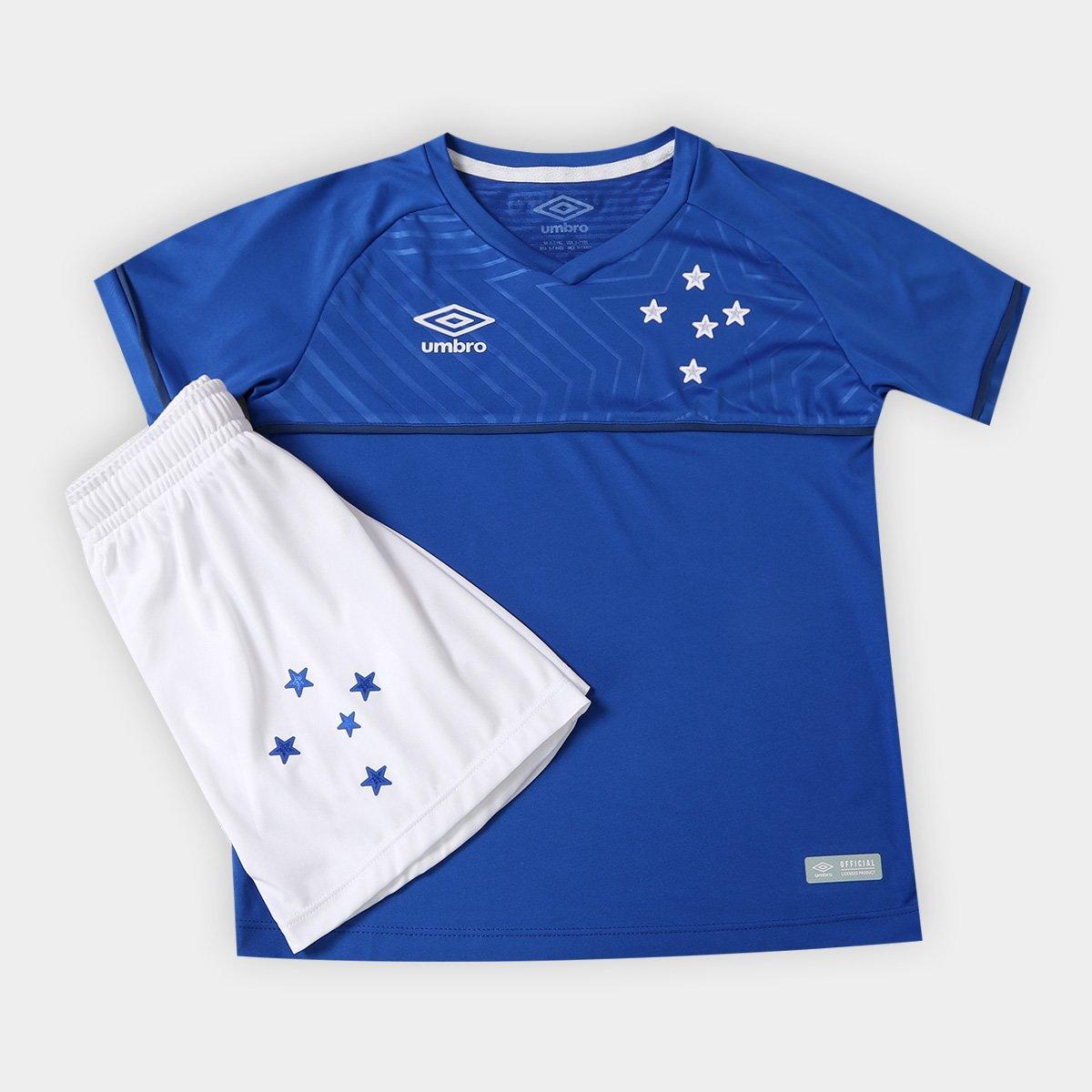 Kit Cruzeiro Infantil I 18 19 Umbro - Compre Agora  b1c2ef18c56ff
