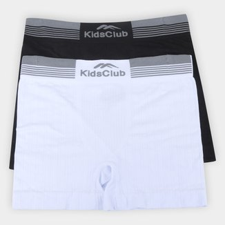 Kit Cueca Boxer Infantil Kids Club Sem Costura C/ 2 Peças