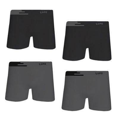 Kit Cueca Lupo Boxer Microfibra sem Costura 4 Peças Masculina - Masculino