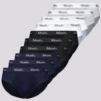 Kit de 10 Cuecas Mash Slip Elastic Cotton II