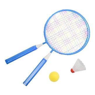Kit De Badminton Infantil Com Raquete, Bolinha E Peteca