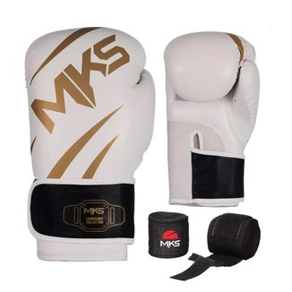Kit de Boxe Luva + Bandagem MKS New Champion