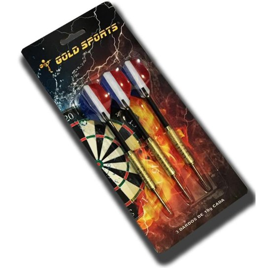 Kit de Dardos Gold Sports 18 gramas - Colorido