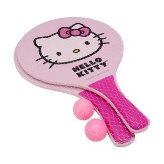 Kit de Frescobol Hello Kitty Rosa com 02 Raquetes e 02 Bolinhas