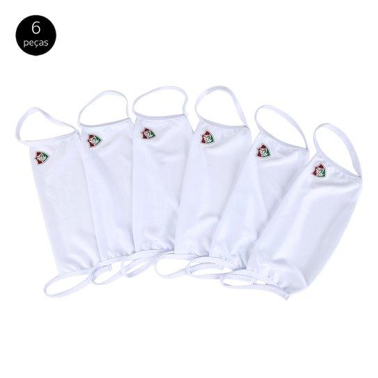 Kit de Máscaras de Proteção Juvenil Fluminense Basic Laváveis - 6 Unid - Branco