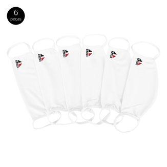 Kit de Máscaras de Proteção Juvenil São Paulo Laváveis - 6 Unid