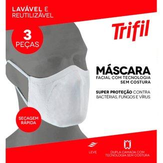 Kit De Máscaras Trifil Lavável Reutilizável 3 Unidades
