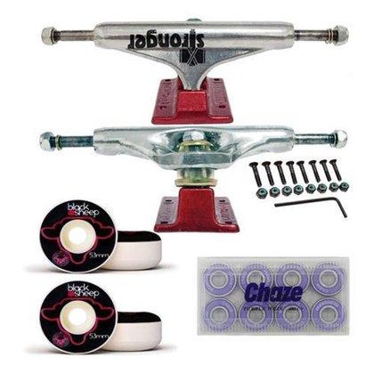 Kit De Skate Truck 139mm Roda 53mm e Rolamento Importado Chaze